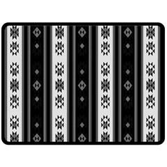 Folklore Pattern Fleece Blanket (large)