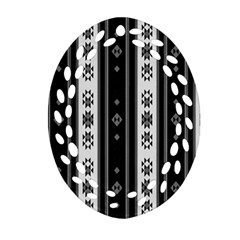 Folklore Pattern Oval Filigree Ornament (two Sides)
