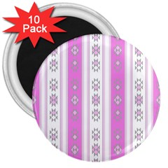 Folklore Pattern 3  Magnets (10 Pack)