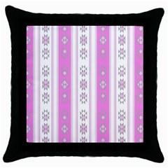 Folklore Pattern Throw Pillow Case (black)