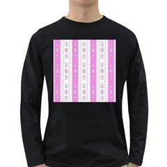 Folklore Pattern Long Sleeve Dark T Shirts