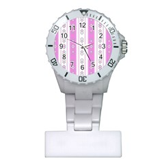 Folklore Pattern Plastic Nurses Watch