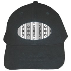 Folklore Pattern Black Cap