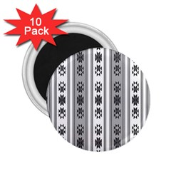Folklore Pattern 2 25  Magnets (10 Pack)