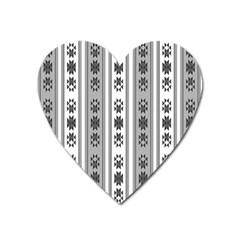 Folklore Pattern Heart Magnet