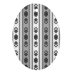 Folklore Pattern Oval Ornament (two Sides)