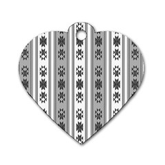 Folklore Pattern Dog Tag Heart (one Side)