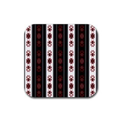 Folklore Pattern Rubber Square Coaster (4 Pack)