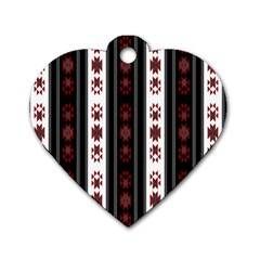 Folklore Pattern Dog Tag Heart (two Sides)