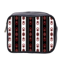 Folklore Pattern Mini Toiletries Bag 2 Side