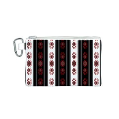 Folklore Pattern Canvas Cosmetic Bag (s)
