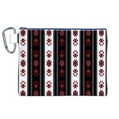 Folklore Pattern Canvas Cosmetic Bag (xl)