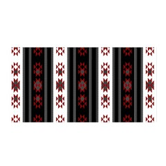 Folklore Pattern Satin Wrap