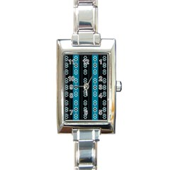 Folklore Pattern Rectangle Italian Charm Watch