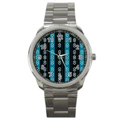 Folklore Pattern Sport Metal Watch
