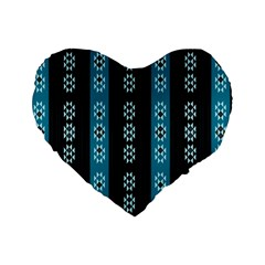 Folklore Pattern Standard 16  Premium Heart Shape Cushions