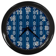 Folklore Pattern Wall Clocks (black)