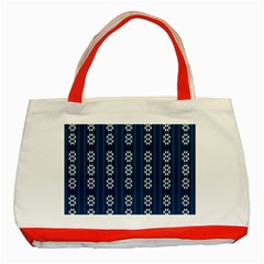 Folklore Pattern Classic Tote Bag (red)