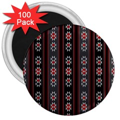 Folklore Pattern 3  Magnets (100 Pack)