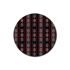 Folklore Pattern Rubber Coaster (round)