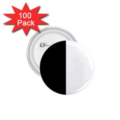 Black And White 1 75  Buttons (100 Pack)