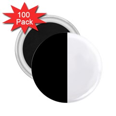 Black And White 2 25  Magnets (100 Pack)