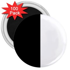 Black And White 3  Magnets (100 Pack)