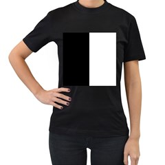 Black And White Women s T Shirt (black) (two Sided)