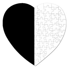 Black And White Jigsaw Puzzle (heart)