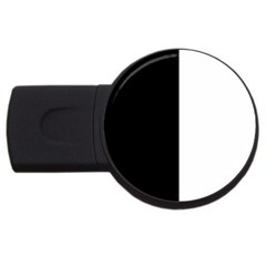 Black And White Usb Flash Drive Round (4 Gb)