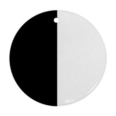 Black And White Round Ornament (two Sides)