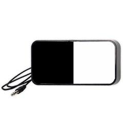 Black And White Portable Speaker (black)