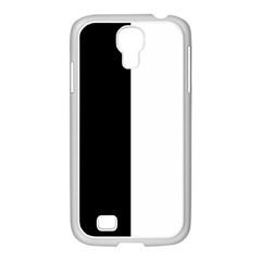 Black And White Samsung Galaxy S4 I9500/ I9505 Case (white)