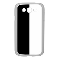 Black And White Samsung Galaxy Grand Duos I9082 Case (white)