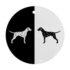 Dalmatian Dog Ornament (round)