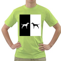 Dalmatian Dog Green T Shirt