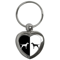 Dalmatian Dog Key Chains (heart)
