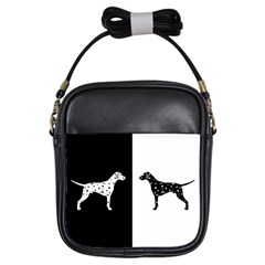Dalmatian Dog Girls Sling Bags