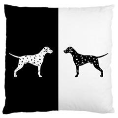 Dalmatian Dog Large Flano Cushion Case (two Sides)