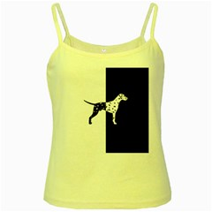Dalmatian Dog Yellow Spaghetti Tank