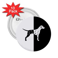 Dalmatian Dog 2 25  Buttons (10 Pack)