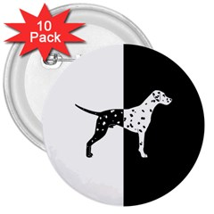 Dalmatian Dog 3  Buttons (10 Pack)