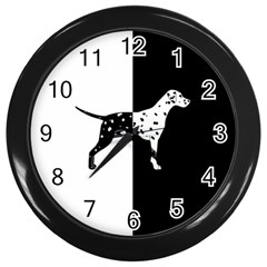 Dalmatian Dog Wall Clocks (black)