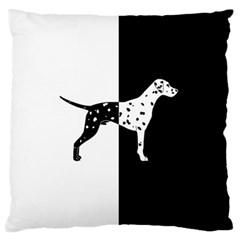 Dalmatian Dog Large Flano Cushion Case (one Side)