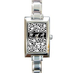 Dalmatian Dog Rectangle Italian Charm Watch