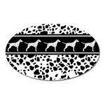Dalmatian dog Oval Magnet Front