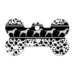 Dalmatian Dog Dog Tag Bone (one Side)