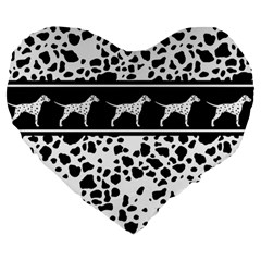Dalmatian Dog Large 19  Premium Heart Shape Cushions