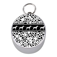 Dalmatian Dog Mini Silver Compasses