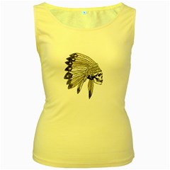 Indian Chef  Women s Yellow Tank Top